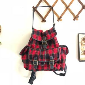 Vintage Plaid Backpack